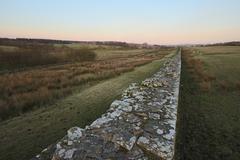 Hadrian's Wall, Scottland - stock photo