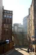 Streets of Edinburgh, Scottland - stock photo
