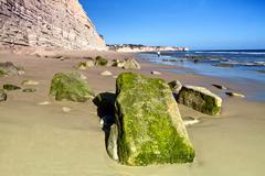 Beautiful algarve beach Stock Photos