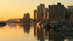 Coal Harbor Reflections, Vancouver Stock Footage