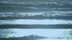 Gentle Aquamarine Waves Full Frame Stock Footage
