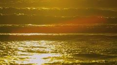 Calm Ocean Waves Sunset Full Frame Stock Footage