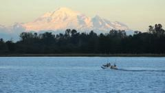 Mount Baker and River Stock Footage