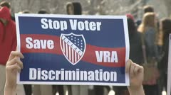 Voting Rights Act rally - stock footage