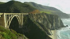 Bixby Bridge Big Sur California Stock Footage