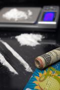 Cocaine addiction Stock Photos