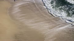Gentle Ocean Waves Washing Onto Tropical Beach Stock Footage