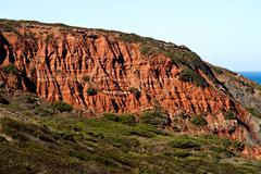 cliff geologic formation - stock photo