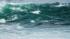 Deep Ocean Waves Washing to Shore Full Frame - stock footage