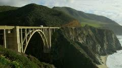 Bixby Bridge Big Sur California Stock Footage