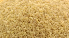 Coarse bulgur zoom in Stock Footage