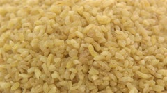 Stock Video Footage of Coarse bulgur zoom out 2