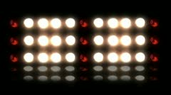 Floodlights flashing (1 of 10) - stock footage