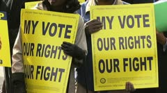 Voting Rights Act rally Stock Footage