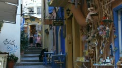 Crete58 Chania street Stock Footage