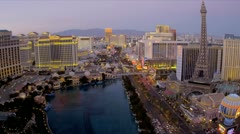 Bellagio Hotel Casino Las Vegas Blvd, USA Stock Footage