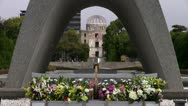 Stock Video Footage of Hiroshima Atomic Bomb Dome And Peace Park Memorial