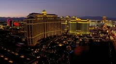 Panorama Bellagio Hotel Casino Las Vegas Blvd, USA Stock Footage