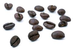 coffee beans array - stock photo