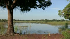 Burkina Faso: Reservoir Brings Life to the Desert Stock Footage