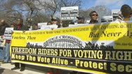 Stock Video Footage of Voting Rights Act rally