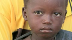 Burkina Faso: Sad Hungry Child Stock Footage