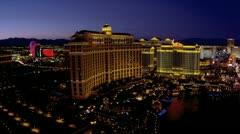 Bellagio Hotel Casino Las Vegas Strip, USA Stock Footage