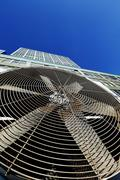 Urban hvac air contidioner outdoor unit manhattan new-york Stock Photos