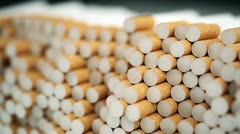 Filter cigarettes Stock Footage