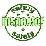 safety inspector stamp - stock illustration