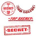 Top secret stamp collection Stock Illustration