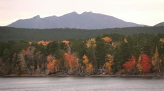 The autumn landscape with people. Stock Footage