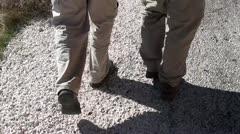 Takaisin kävely jalat Arkistovideo