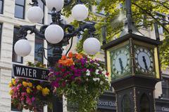 steam clock, gas town, vancouver, british columbia, canada - stock photo