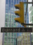 burrard street, downtown, vancouver, british columbia, canada - stock photo