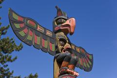 Totem pole, thunderbird park, victoria, vancouver island, canada Kuvituskuvat