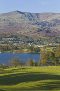 coniston water, lake district - stock photo