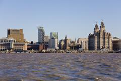Stock Photo of Liverpool skyline and river mersey