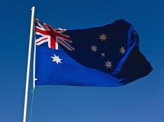 australian flag - stock photo
