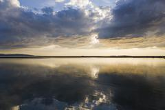 evening light at west kirby, wirral, england - stock photo