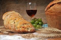 fresh backed bread - stock photo