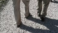Couple of walking feet 2 Stock Footage