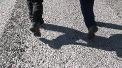 Pari kävely jalat 3 Arkistovideo