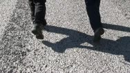 Stock Video Footage of Couple of walking feet 3