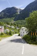 Village in Norway - stock photo