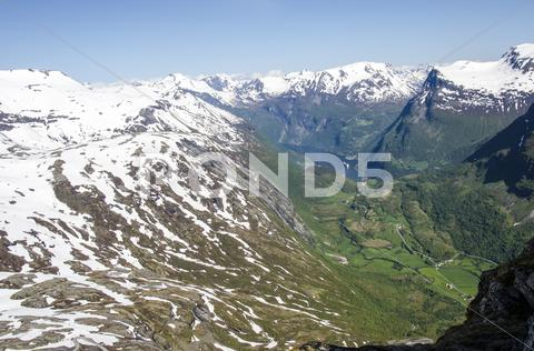 Stock photo of Norway , Geiranger Fjords - Hellesylt