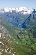 Stock Photo of Norway- Hellesylt - Geiranger Fjords