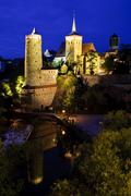 Stock Photo of bautzen at night