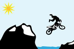 motocross bike - stock illustration