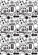 Black and white icons Stock Illustration